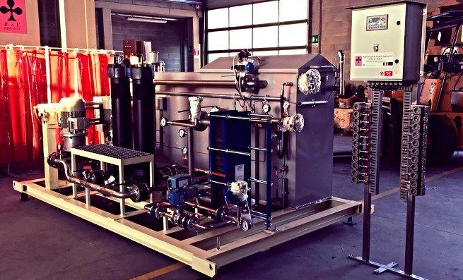 Centrale lubrificazione olio Bertacchi e Filippi